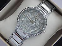 Женские кварцевые наручные часы Vacheron Constantin full diamond со стразами