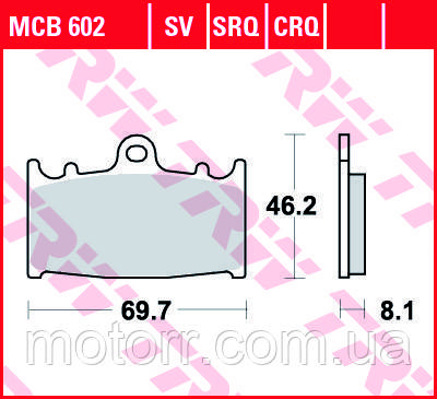 Тормозные колодки TRW / LUCAS MCB602SV