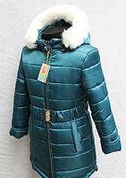 Зимняя детская курточка на меховой подстежке для девочки