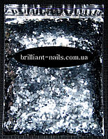 Шестигранники  серебро (соты)