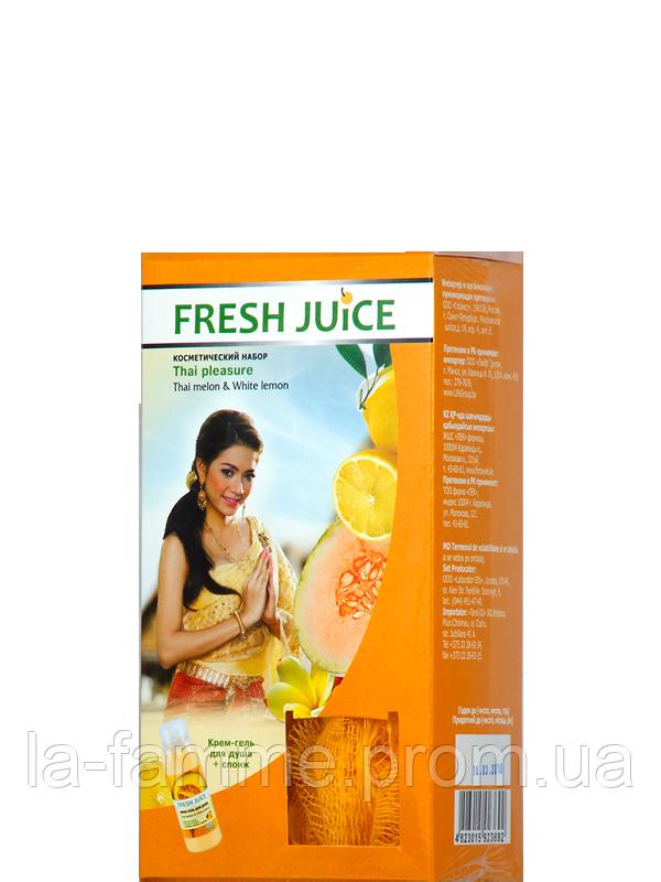 """Наборы Гель для душа + спонж массажный для пилинга Fresh Juice  """"Thai pleasure"""""""
