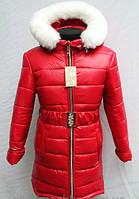 Стильная детская курточка на меховой подстежке для девочки