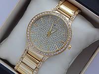 Женские кварцевые наручные часы Vacheron Constantin full diamond золотого цвета, фото 1
