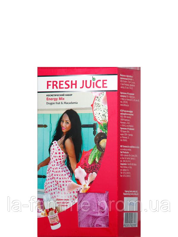 Набор Гель для душа + спонж массажный для пилинга Fresh Juice «Energy Mix»