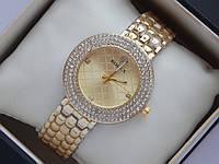 Женские кварцевые наручные часы Rolex на металлическом браслете с 3 рядами камней, фото 1