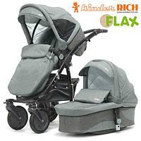 Универсальная коляска 2 в 1 Kinder Rich Fox Flax Grey