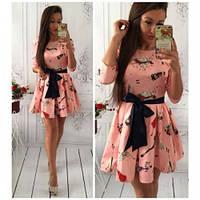Платье женское красивое № 424 -4 пудра, женский одежда
