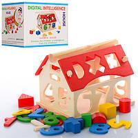 Деревянная игрушка Сортер - домик