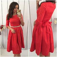 Платье женское модное 431 -4 красное, платье интернет магазин