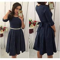 Платье женское модное 431 -4 синее, платье интернет магазин