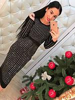 Женское стильное платье-миди камни (2 цвета), фото 1