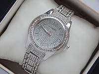 Женские кварцевые наручные часы Guess с огромным количеством страз, фото 1