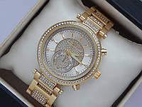 Женские кварцевые наручные часы копия Michael Kors с дополнительным циферблатом, фото 1
