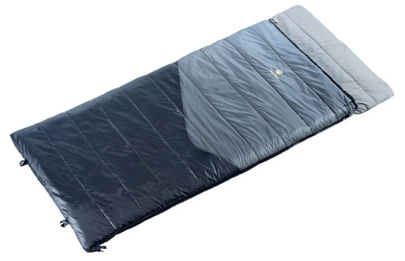 Мягкий, удобный спальный мешок Space II DEUTER 37011 4100 1 черно-серый