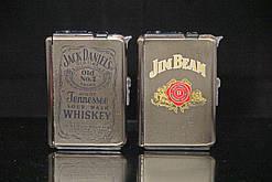 Портсигар выкидной с зажигалкой Виски