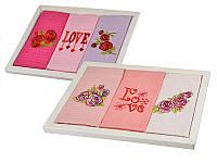 """Набор кухонных полотенец """"LOVE"""" 3 шт 50Х70 см в упаковке 907-142"""