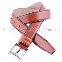 Ремень для брюк LMi 35 мм рыжий со строчкой