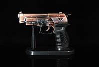 Зажигалка в виде пистолета с лазером №968