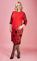 Женское красное нарядное платье