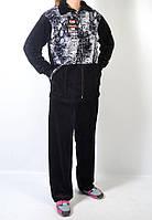 Женский велюровый костюм с тигровым принтом-1, фото 1