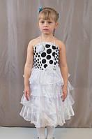 Детское изумительно красивое новогоднее платье воланами