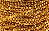 Нить золотых бусинок 3 мм
