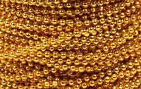 Нить золотых бусинок 3 мм, фото 1
