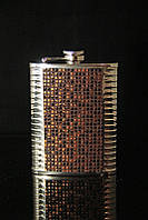Кожаная фляга с металлом на 240 мл № 4
