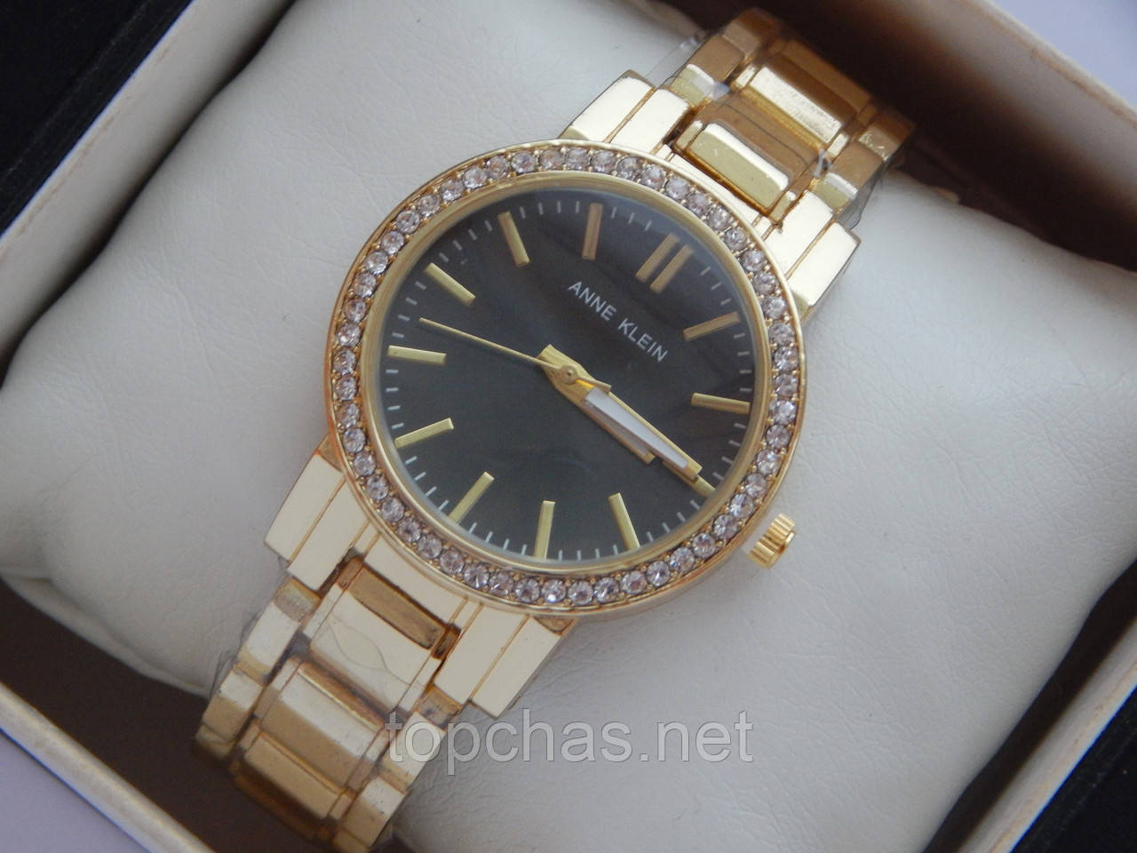 Женские кварцевые наручные часы Anne Klein на металлическом браслете, фото 1