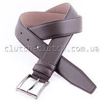 Ремень для брюк LMi 35 мм эко кожа спелая вишня со строчкой