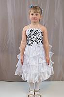Детское изумительно красивое новогоднее платье с принтом
