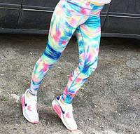 Лосины для фитнеса женские цветные.