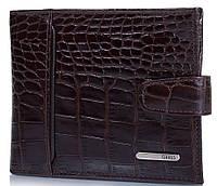 Стильное мужское портмоне из кожи под крокодила GRASS (ГРАСС) SHI350-30