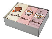 """Набор махровых кухонных полотенец """"Кофе"""" 3 шт 40Х60 см в упаковке 907-141"""