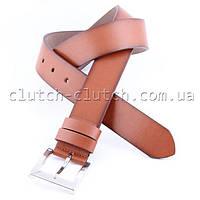Ремень для брюк LMi 40 мм эко кожа рыжий
