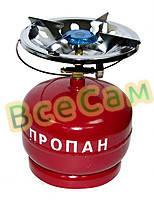Баллон газовый бытовой 5 л. бутан с горелкой