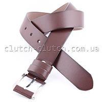 Ремень для брюк LMi 40 мм эко кожа темно-коричневый