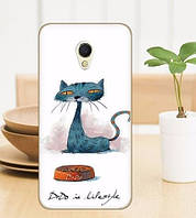 Эксклюзивные силиконовые чехлы с рисунками для Meizu M3e Кошка