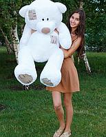 Плюшевый медведь Гриша 140 см Белый