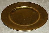 Подставка -круг золотистая пластик 15см