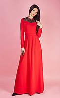 Женское красное платье в пол