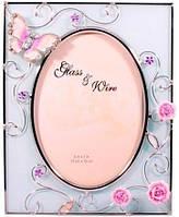 Рамка для фотографии Бабочка на чайной розе Charme de femme 307-57