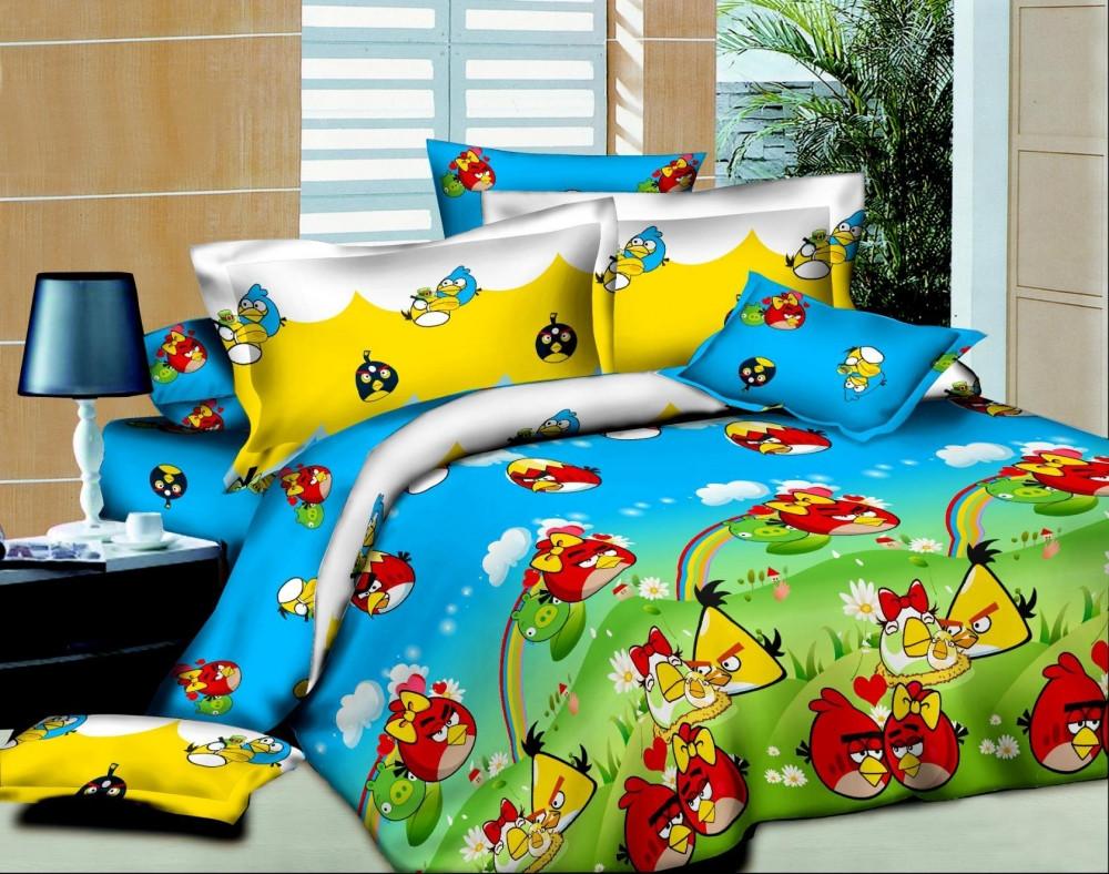 Постельное белье в кроватку Птички (ранфорс)
