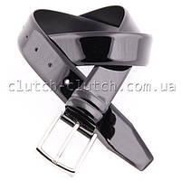 Лакированный ремень LMi 35 мм черный