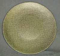 Подставка -круг золотистая кружева пластик 33см