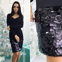 Платье женское модное красивое710 -1 с пайетками ,платье интернет магазин