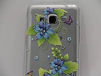Чехол для смартфона Samsung J2 Prime G532, G530, G531 Prime голубые цветы камень, фото 1