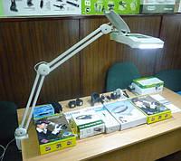 Лупа-лампа 5 диоптрий 190x157мм с ЛЕД подсветкой косметологическая 8069, фото 1