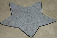 Подставка -звезда бело-золотистая пластик 23,5см, фото 1