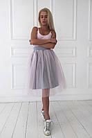 Стильная  фатиновая юбка(в расцветках)